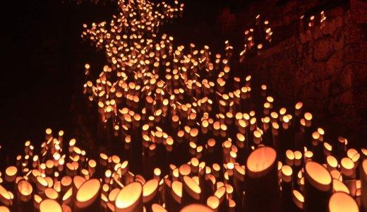 たけた竹楽(ちくらく)2万本の竹灯篭が竹田の町に並ぶ。無名なのに、こんなスケールの祭りあったの?
