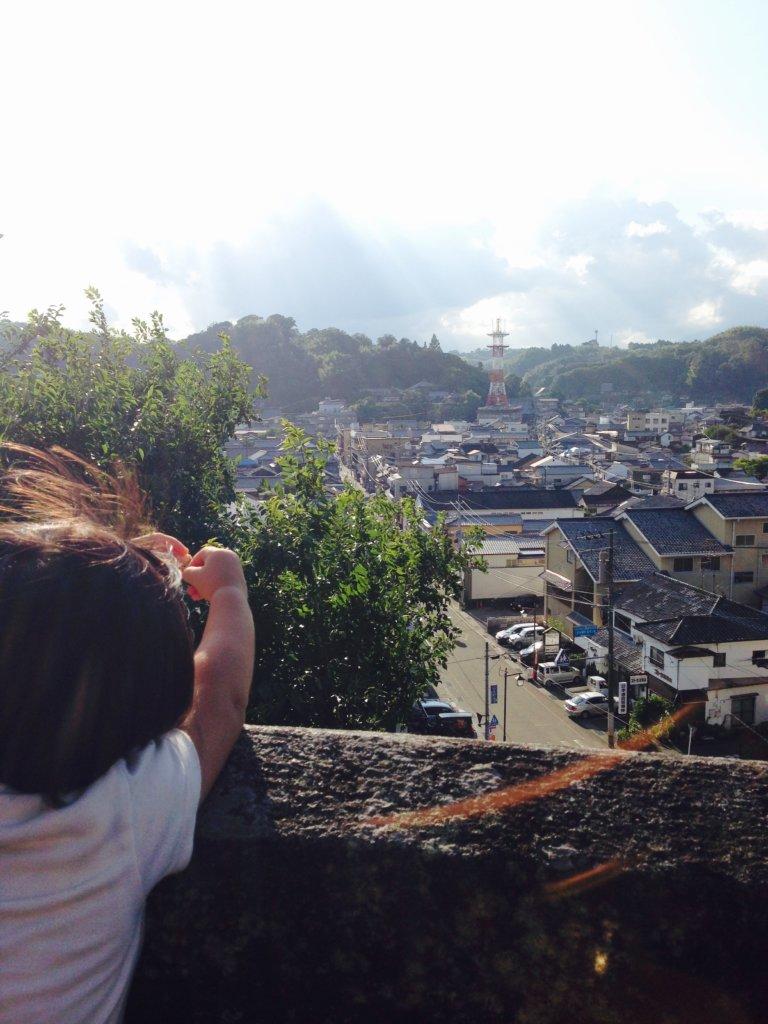 大分県竹田市城下町を広瀬神社から見た景色